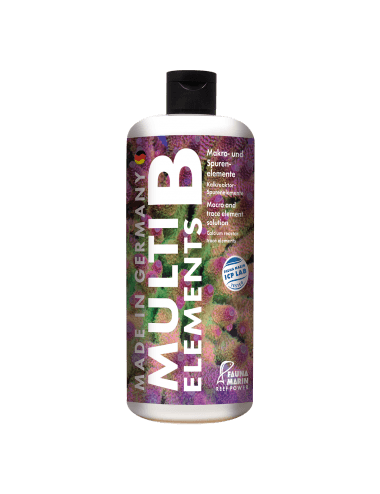 FAUNA MARIN - Multi Elements B - 500 ml - Mélange d'oligo-éléments - Pour la résistance des tissus coralliens