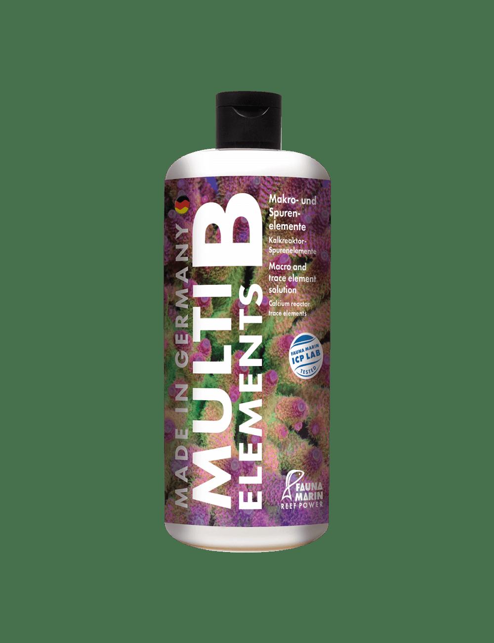 FAUNA MARIN - Multi Elements B - 1000 ml - Mélange d'oligo-éléments - Pour la résistance des tissus coralliens