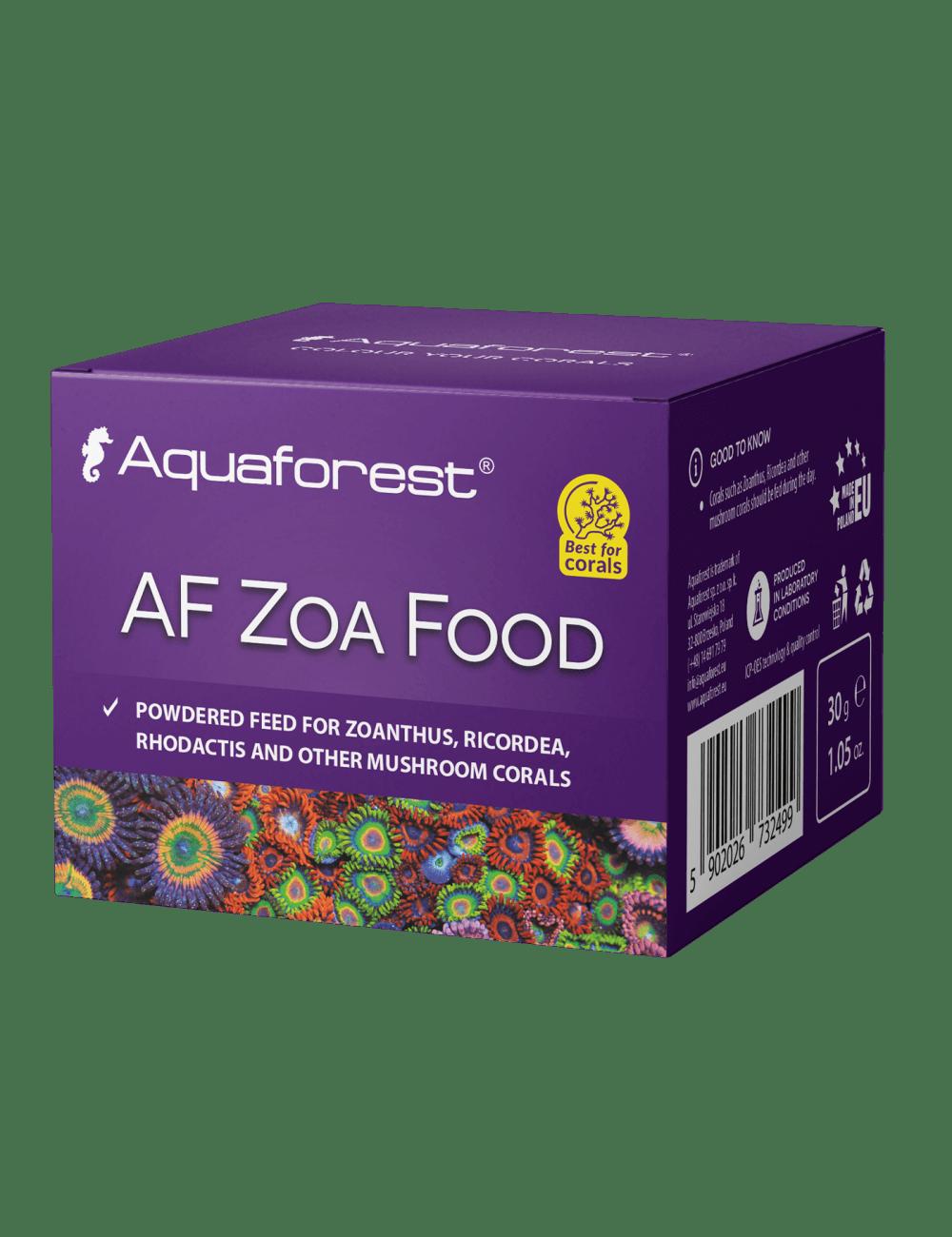 AQUAFOREST - AF Zoa Food - 30 G - Nourriture en poudre pour Zoanthus, Ricordea, Rhodactis et autres coraux champignons
