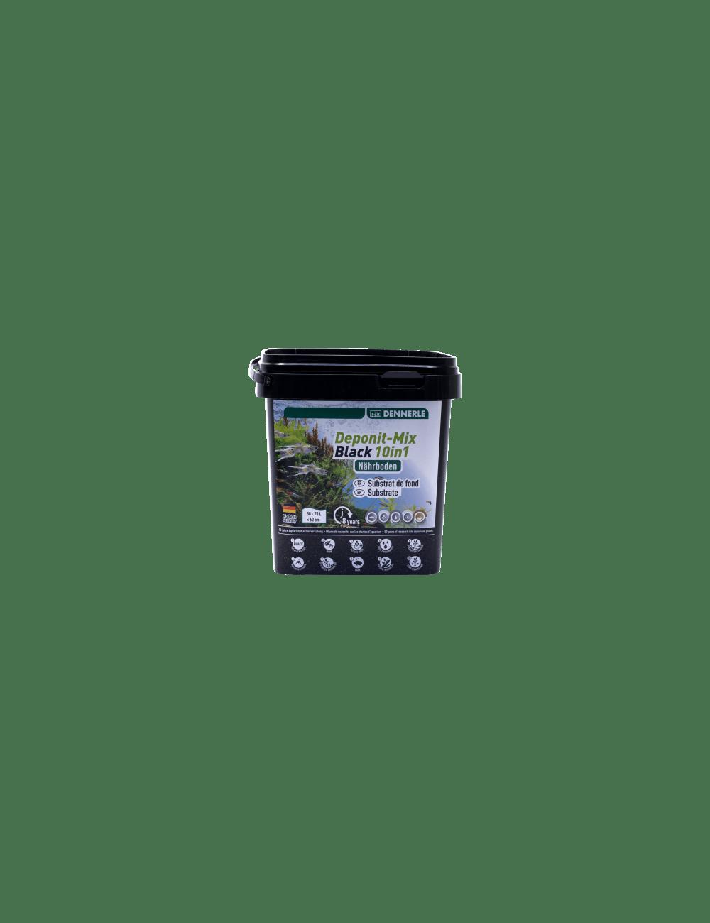 DENNERLE - Deponit-Mix Black 10IN1 - 2,4 kg - Substrat nutritif minéral noir
