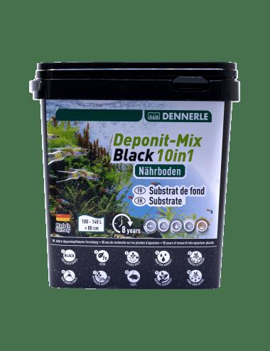 DENNERLE - Deponit-Mix Black 10IN1 - 4,8 kg - Substrat nutritif minéral noir