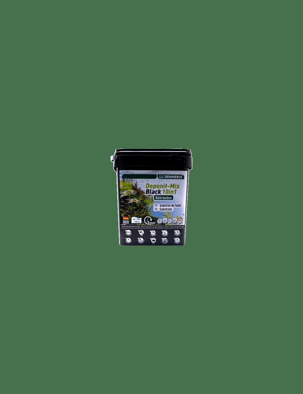 DENNERLE - Deponit-Mix Black 10IN1 - 9,6 kg - Substrat nutritif minéral noir